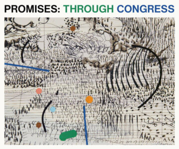 A Collaboration Between Julie Mehretu And Sam Shepherd Ft: Mehretu's Painting Congress And Promises LP By Floating Points, Pharoah Sanders
