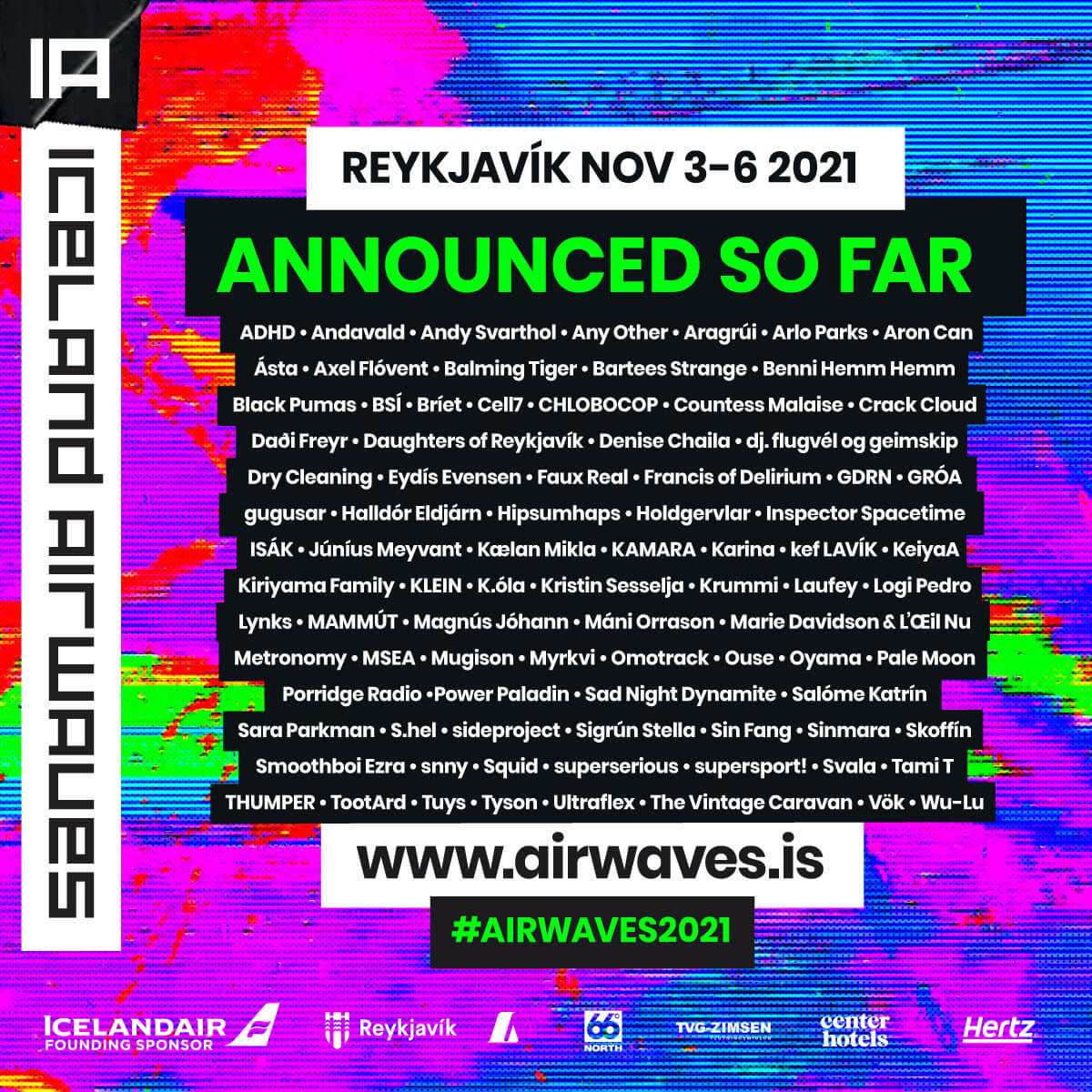 2021 edition of Iceland Airwaves, returns to downtown Reykjavík this November 3-6, 2021. Today, one of the finest curated music