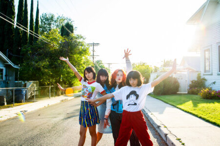 """The Linda Lindas, the Los Angeles-based, all-female punk band, known for their track """"Racist, Sexist Boy"""" and their now-legendary set"""