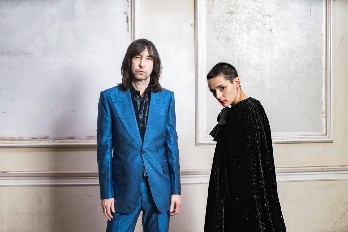 """Bobby Gillespie Jehnny Beth have shared """"Chase It Down"""" from their upcoming album Utopian Ashes, out July 2, 2021 via Third Man Records"""
