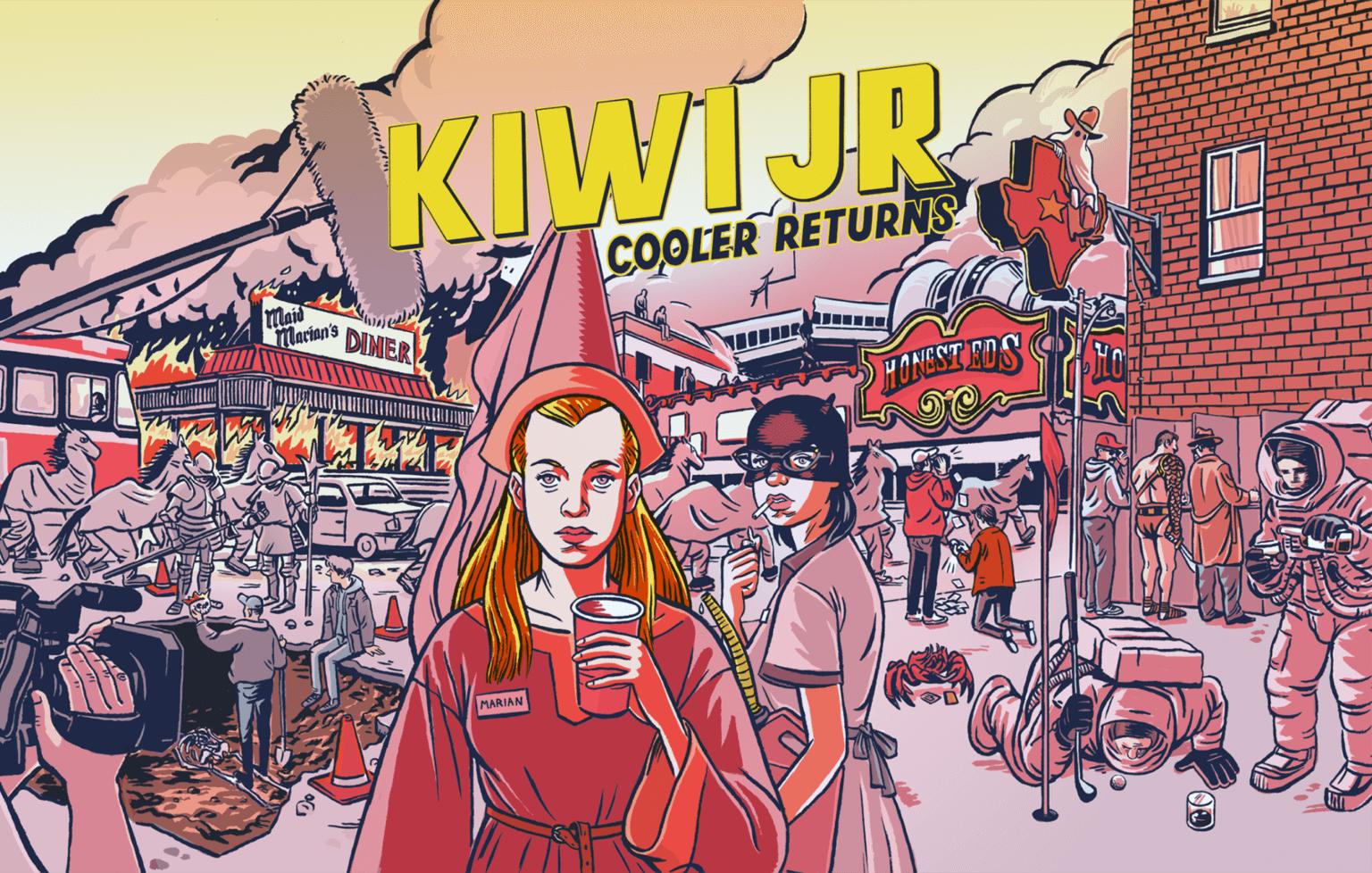 Kiwi Jr. has partnered with cartoonist Dmitry Bondarenko on a 24-page booklet of illustrated lyrics