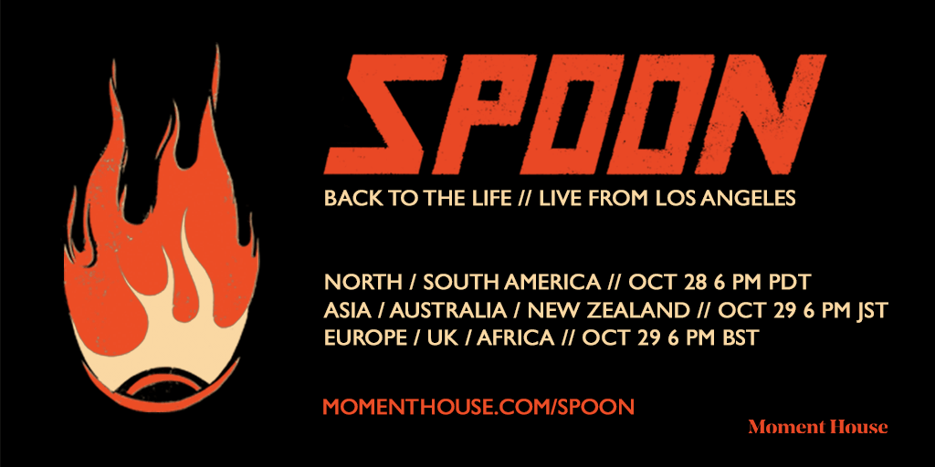 """Spoon announces """"Back to Life // Live From Los Angeles"""" on October 28 and 29 - livestream of sold-out Teragram show"""